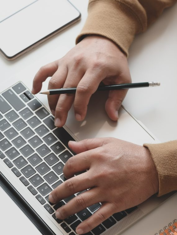 email and spam protection services - hands typing on keyboard