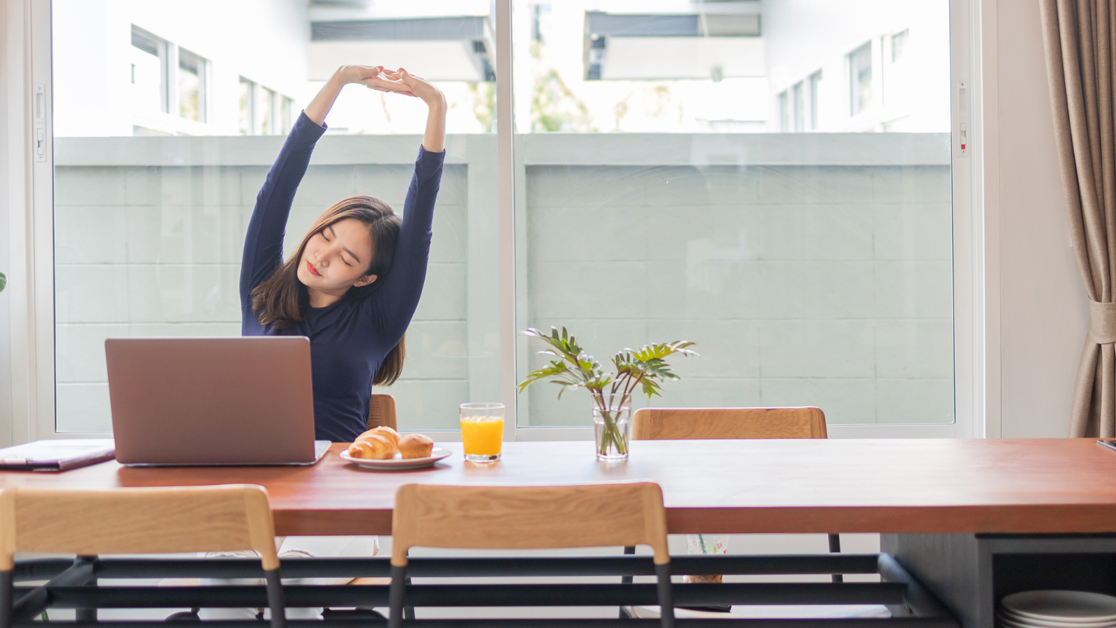 woman stretching for workplace flexibility